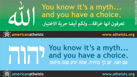 American Atheists billboard adverts