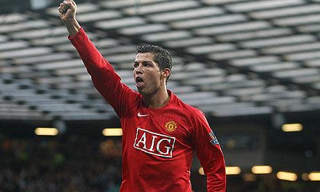 Cristiano Ronaldo with fist aloft