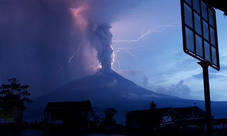 mt merapi erupting