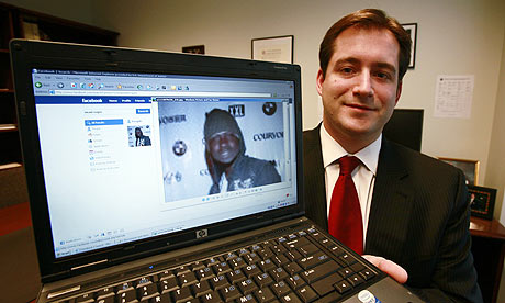 Assistant US attorney Michael Scoville shows Maxi Sopo's Facebook page that helped the FBI nab him.
