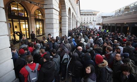 The iPhone queue