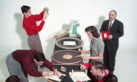 A physics class at MIT in 1957