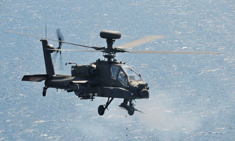 Apache and Tiger Military helicopers deployed over Libya
