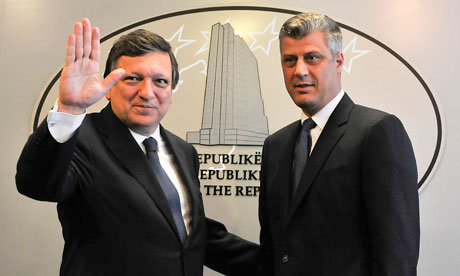 José Manuel Barroso and Hashim Thaci