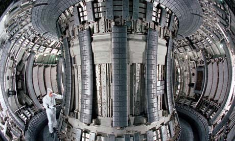 JET's fusion reactor, where physicists recreate conditions inside the sun