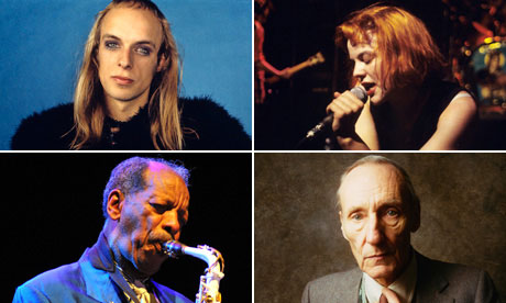 Brian Eno, Bikini Kill, William S Burroughs and Ornette Coleman