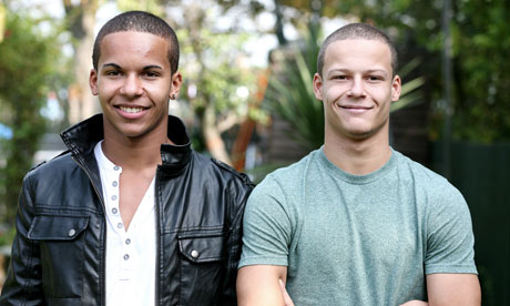 James (left) and Daniel Kelly, twin brothers. Photograph: Martin Godwin for the Guardian