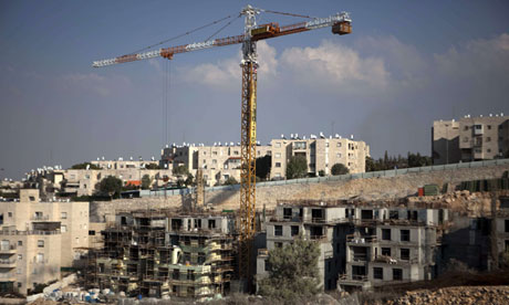A construction site in the Jewish settlement of Gilo, in East Jerusalem