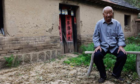 The father of Chinese writer Mo Yan