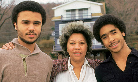 Toni Morrisson with her sons - peoplewhowrite