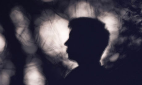 Silhouette of a young male