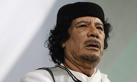 Muammar Gaddafi in 2010