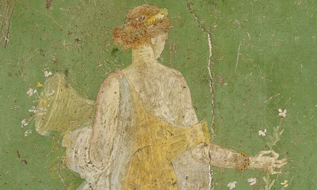 Wall painting of Flora, goddess of fertility and abundance, from the Villa Arianna, Stabiae