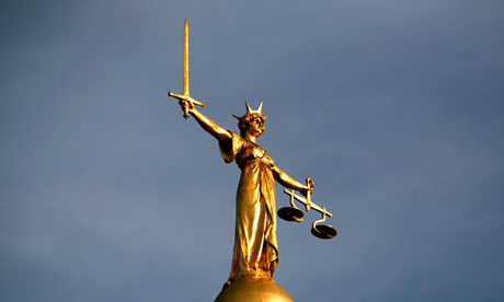 Legal eagle … the Statue of Justice on the Old Bailey