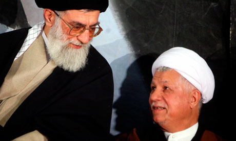 Ayatollah Ali Khamenei and Akbar Hashemi Rafsanjani