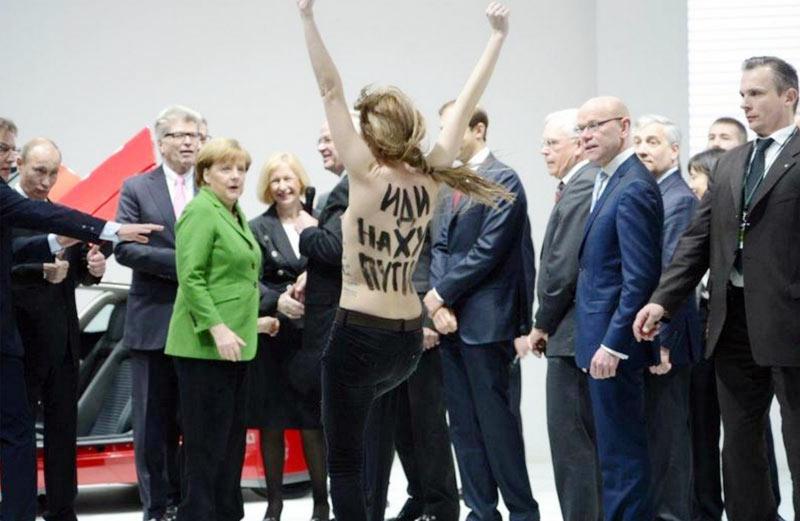 Putin, Merkel naked women
