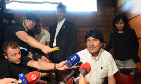 Evo Morales at Schwechat airport