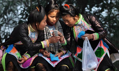 Chinese girls mobile phone