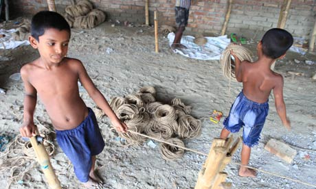 Child labour rope factory Bangladesh