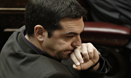Syriza leader Alexis Tsipras at the Greek parliament in Athens, 23 December 2014.