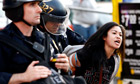 Occupy Oakland: teargas fired at protesters - video