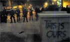Occupy Oakland protester shot by police rubber bullet - video