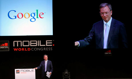 Eric Schmidt at 2011 Mobile World Congress in Barcelona