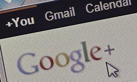 Salesforce: Google Plus logo and website screen close up