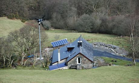 Off-grid house in the UK