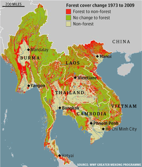 Mekong forest loss