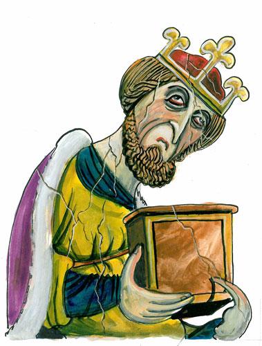 King Athelstan, as drawn by Martin Rowson