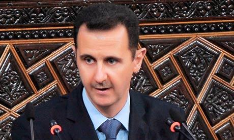 President Bashar al-Assad blames conspirators