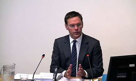 James Murdoch gives evidence at the Levenson inquiry at the High Court in London