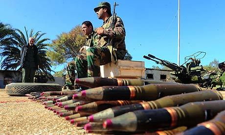 Anti Gadaffi Libyan soldiers