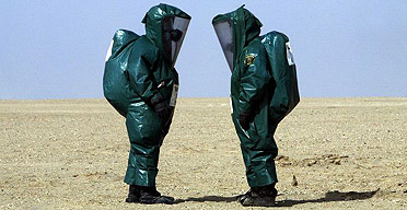 Protective chemical suits