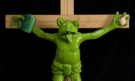 crucified frog