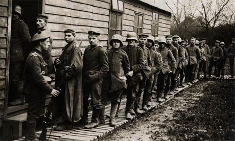 German prisoners of war, first world war