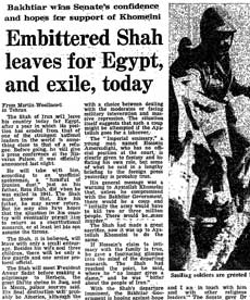 Iranian Revolution, 30 years: Embittered shah