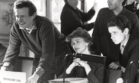 David Hare on the set of Paris by  Night