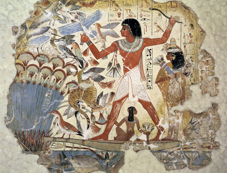 Nebamun, wife, daughters and cat, slaughter fowl...give it a while