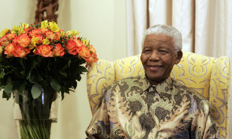 Former South African President Nelson Mandela at his house in Qunu, Eastern Cape in 2008