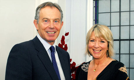 Tony Blair and Fern Britton