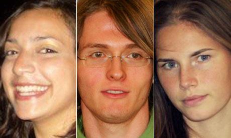 Murder victim Meredith Kercher, Raffaele Sollecito, Amanda Knox
