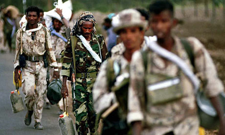 Many Eritreans are forced into national service up until the age of 55. Photograph: Steve Forrest/EPA