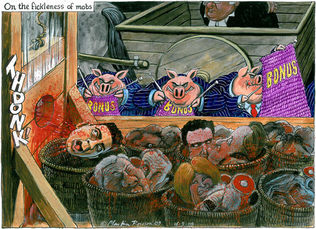 Martin Rowson, The Guardian, 15 May 2009