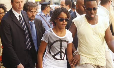 Malia Obama in Peacenik Tee Shirt