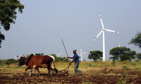 BP  India wind energy investment, Suzlon Energy windfarm in Dhule