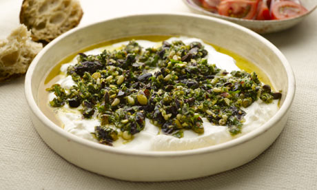 Labneh with olives