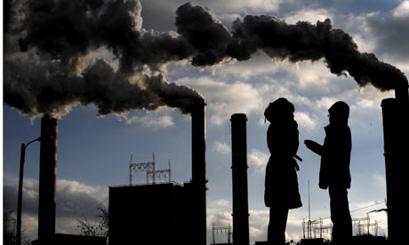 ExxonMobil says demand for power will increase by nearly 40% in the next 20 years, lifting emissions by around 0.9% a year at least until 2030. Photograph: Joe Klamar/AFP/Getty Images