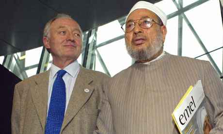 Ken Livingstone with Muslim cleric Yusuf al-Qaradawi in 2004
